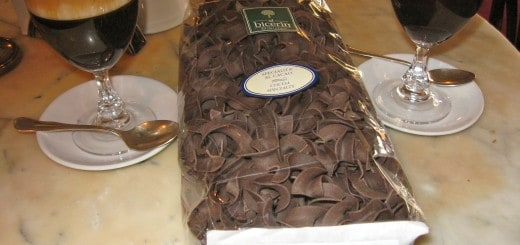 Yes, you can find chocolate pasta in Turin, Italy!