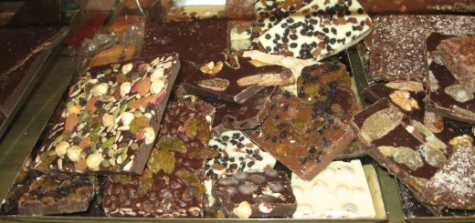 Paul de Bondt makes an amazing selection of chocolate barks.