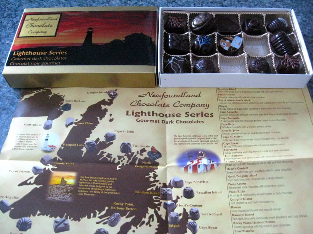 Newfoundland Chocolate Company's great chocolates come with a map