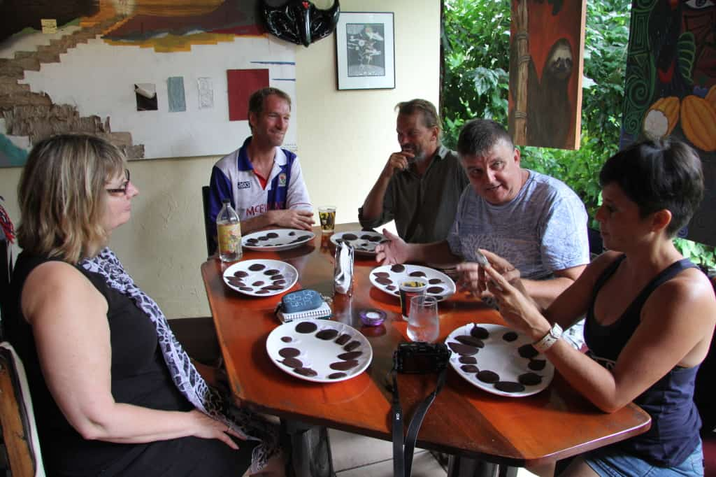 This pic was taken by Jessica of JAG Photography and shows us judging the Single Origin Chocolate of Costa Rica.