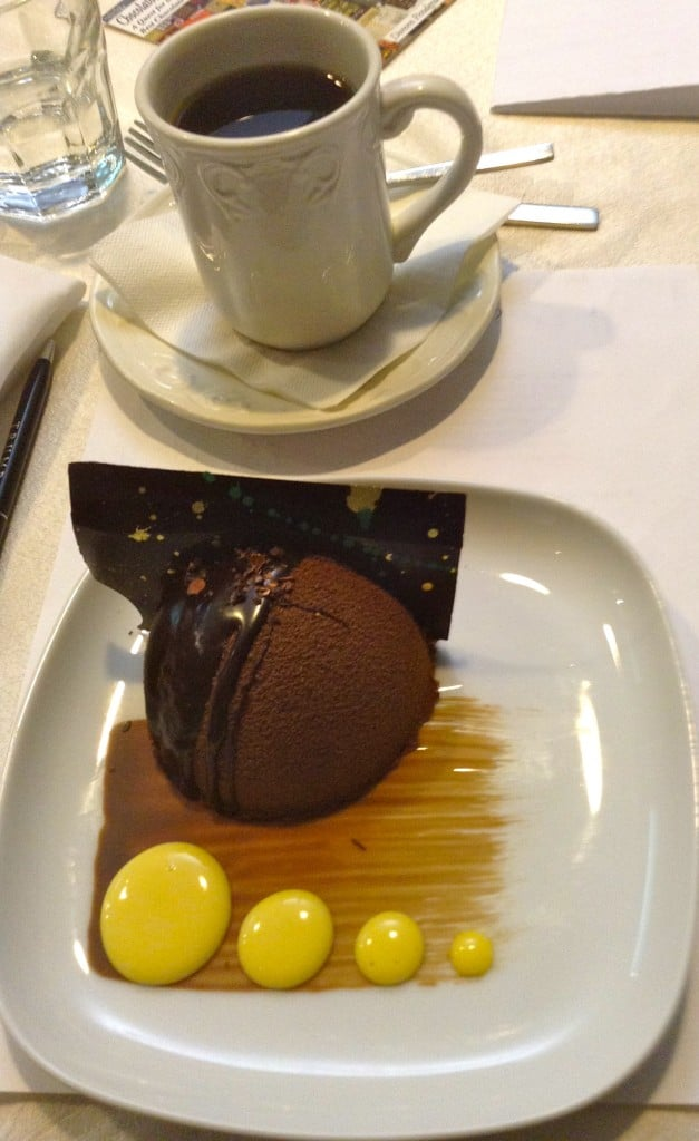 The chocolate mousse with creme aux Kalamansi was the creation of Pastry Chef Geoffroy Dextraze.