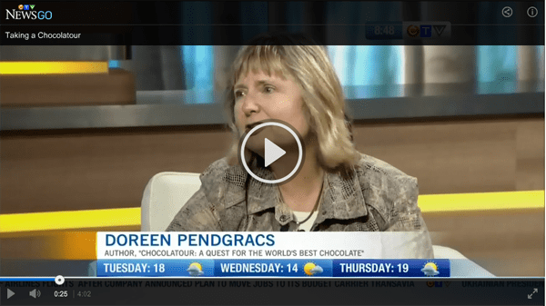 CTV television interview from September, 2014.