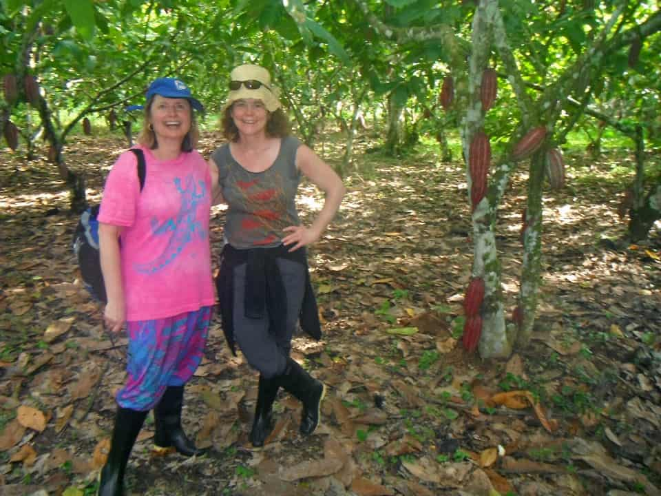 Doreen Pendgracs on a cocoa plantation in Peru
