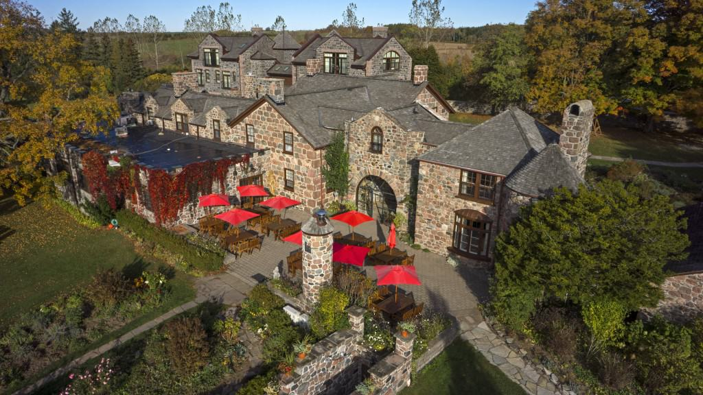 This aerial view of the Ste. Anne's Spa shows the spaciousness of the setting.