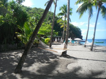 the beach at Anse Chastanet