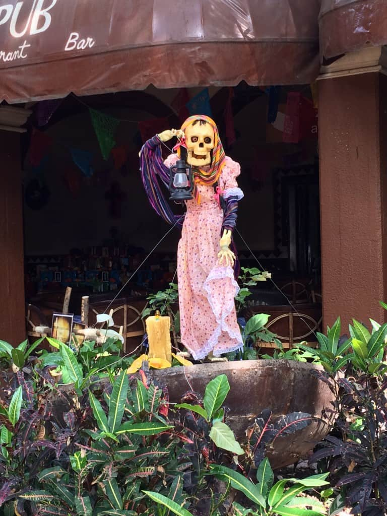 You will find Day of the Dead decorations everywhere in Mexico.
